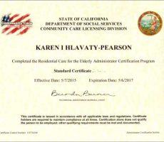 Karen's Certificate