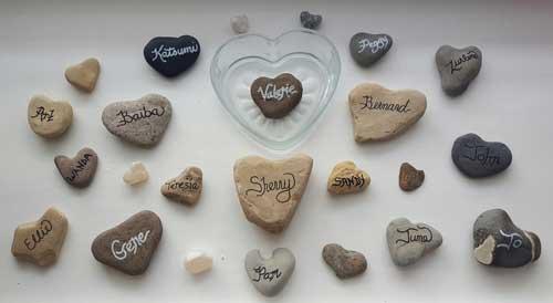 Heart-Shaped Memory Stones