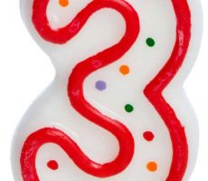 Third Birthday Candle