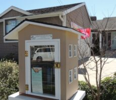 Little Free Library at Caring House
