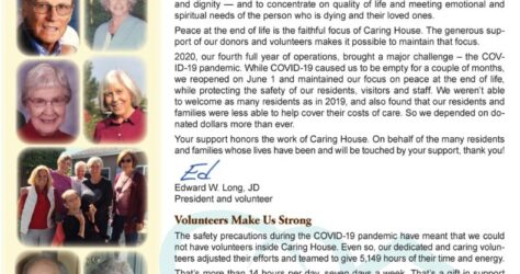Caring House 2020 Annual Report cover