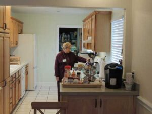 Judith Sommerstein in the Caring House kitchen
