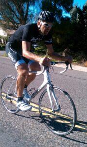 Jon Mesko bikes for Caring House