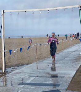 Janette at the Hermosa Beach Triathlon