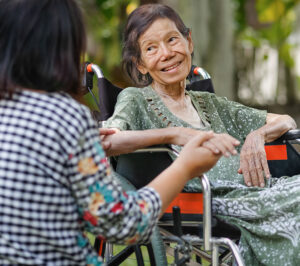 End of life experience with woman in wheelchair