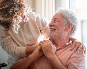 Woman caring for father at end of life